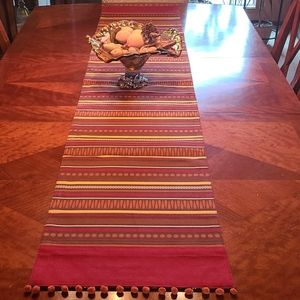 Cool African / India print table runner